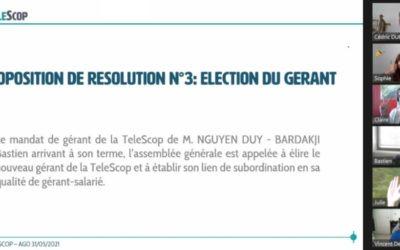Réélection du gérant de La TeleScop